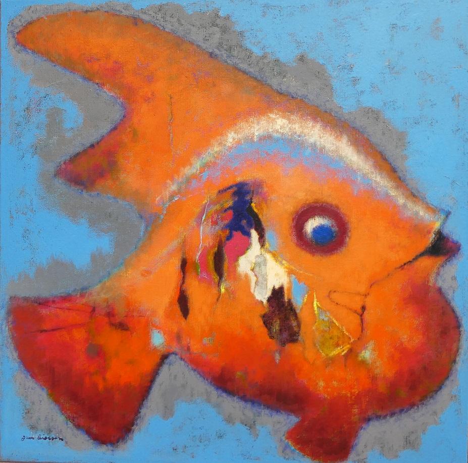 Variatie op verweerde houten vis (5)